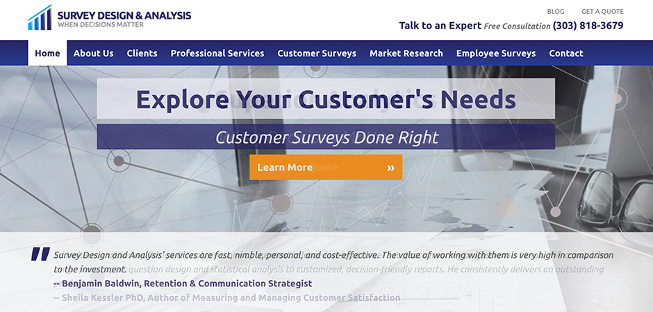 CaseStudy Survey Design Analysis